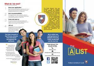 Design Adelaide Brochures : Public Schools Club
